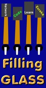 filling glass logo